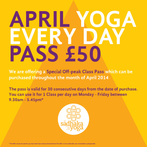 April Yoga Special Offer